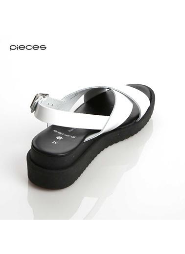 Pieces Sandalet Beyaz